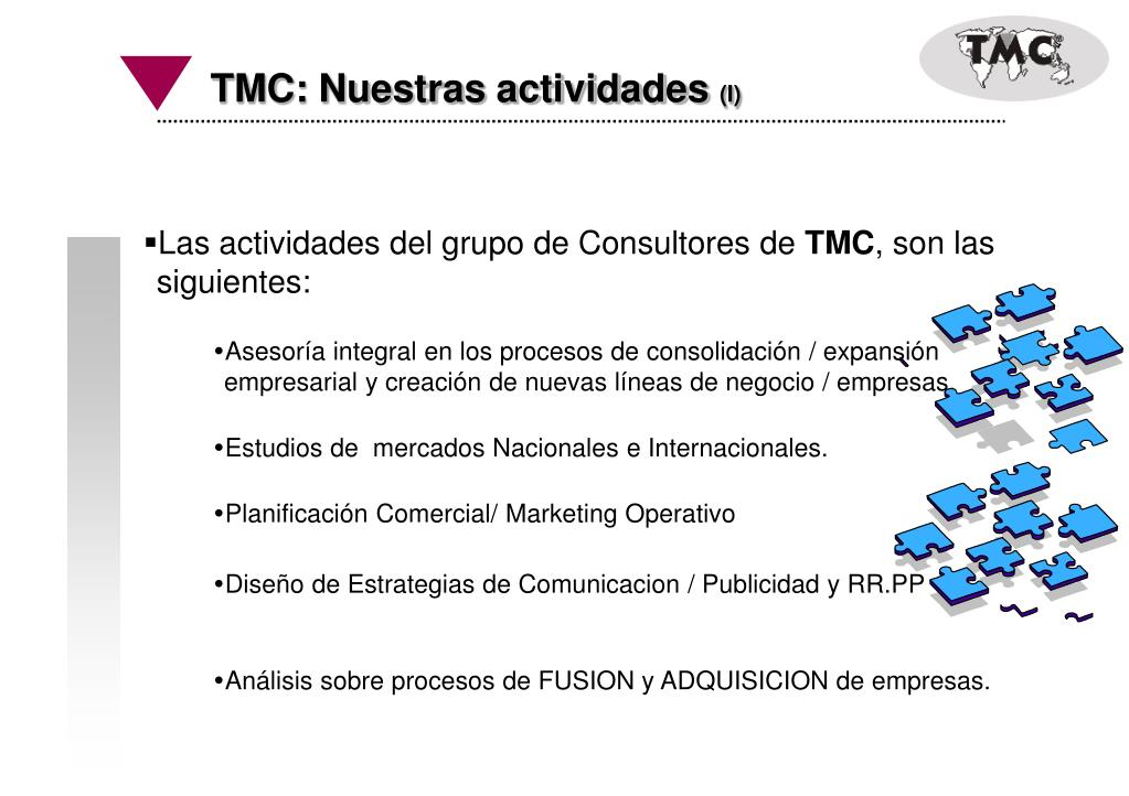TMC: Nuestras actividades