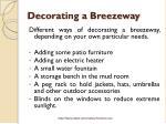 decorating a breezeway