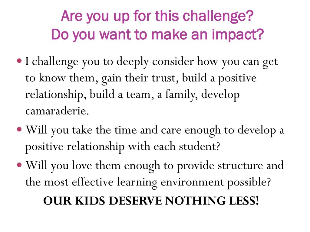 Are you up for this challenge?