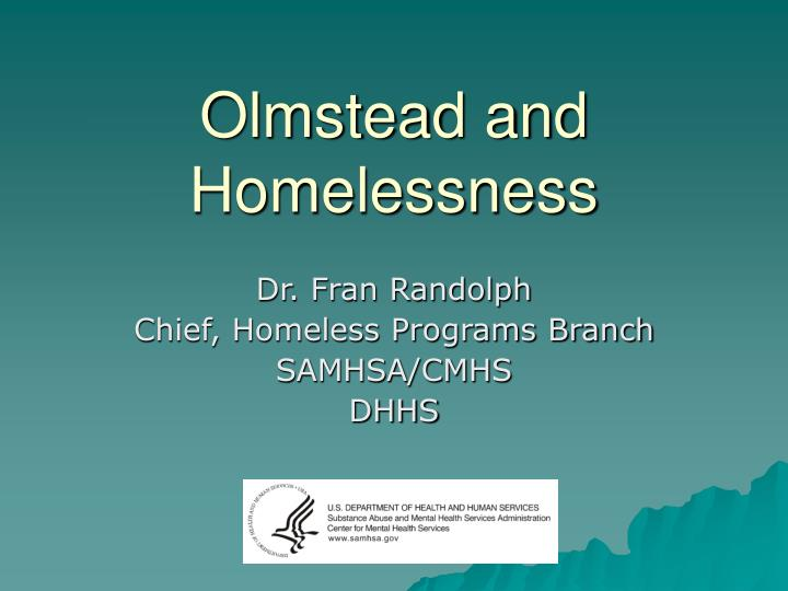 olmstead and homelessness n.