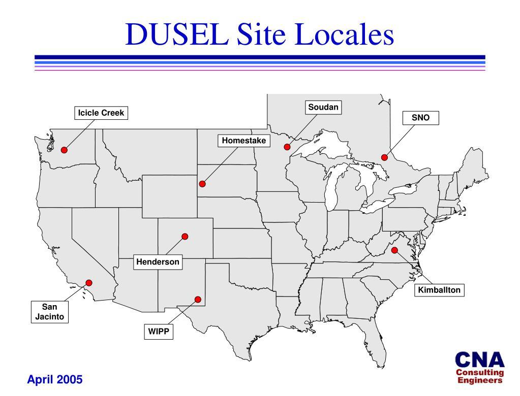 DUSEL Site Locales