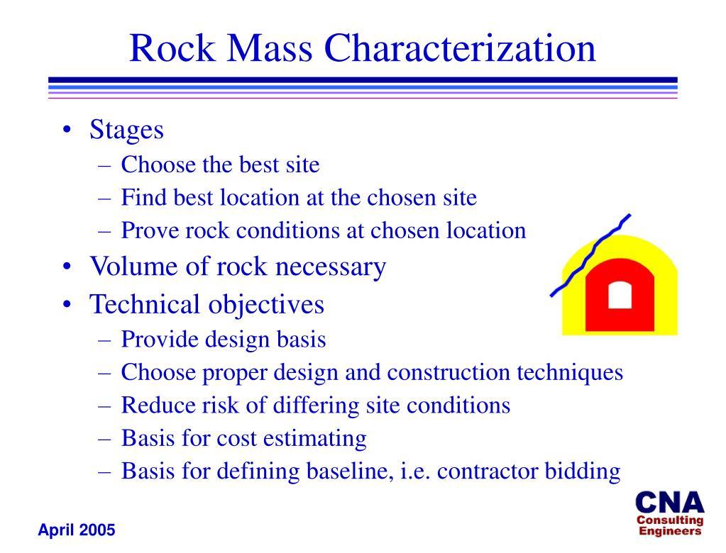 Rock Mass Characterization