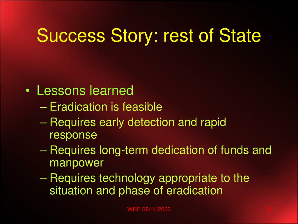 Success Story: rest of State