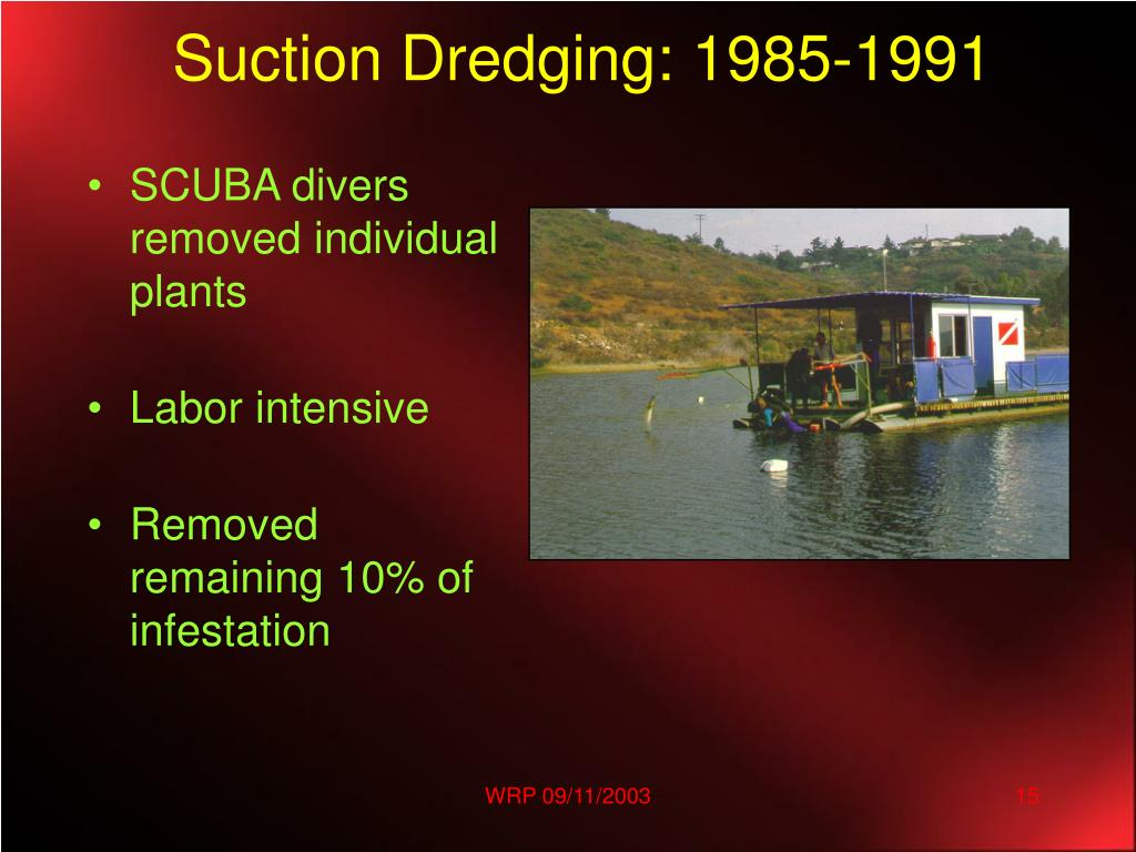 Suction Dredging: 1985-1991