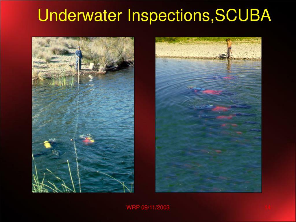 Underwater Inspections,SCUBA