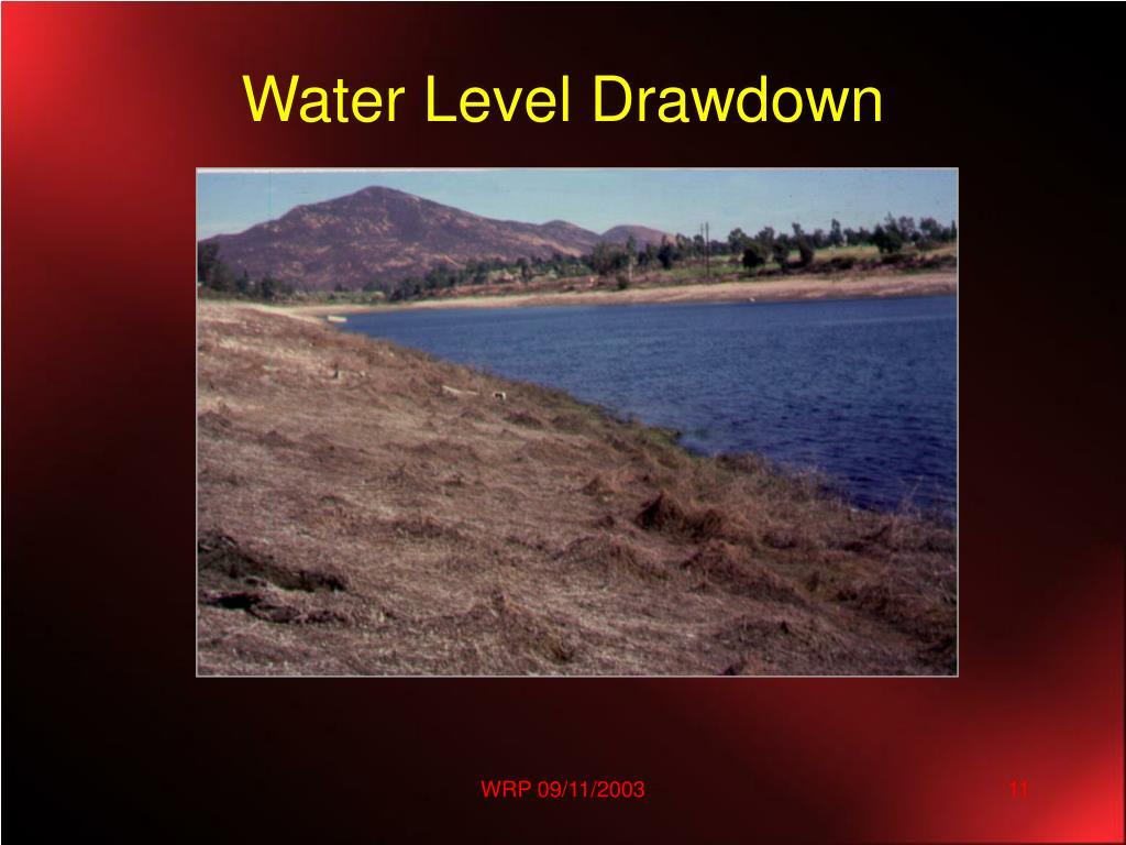 Water Level Drawdown