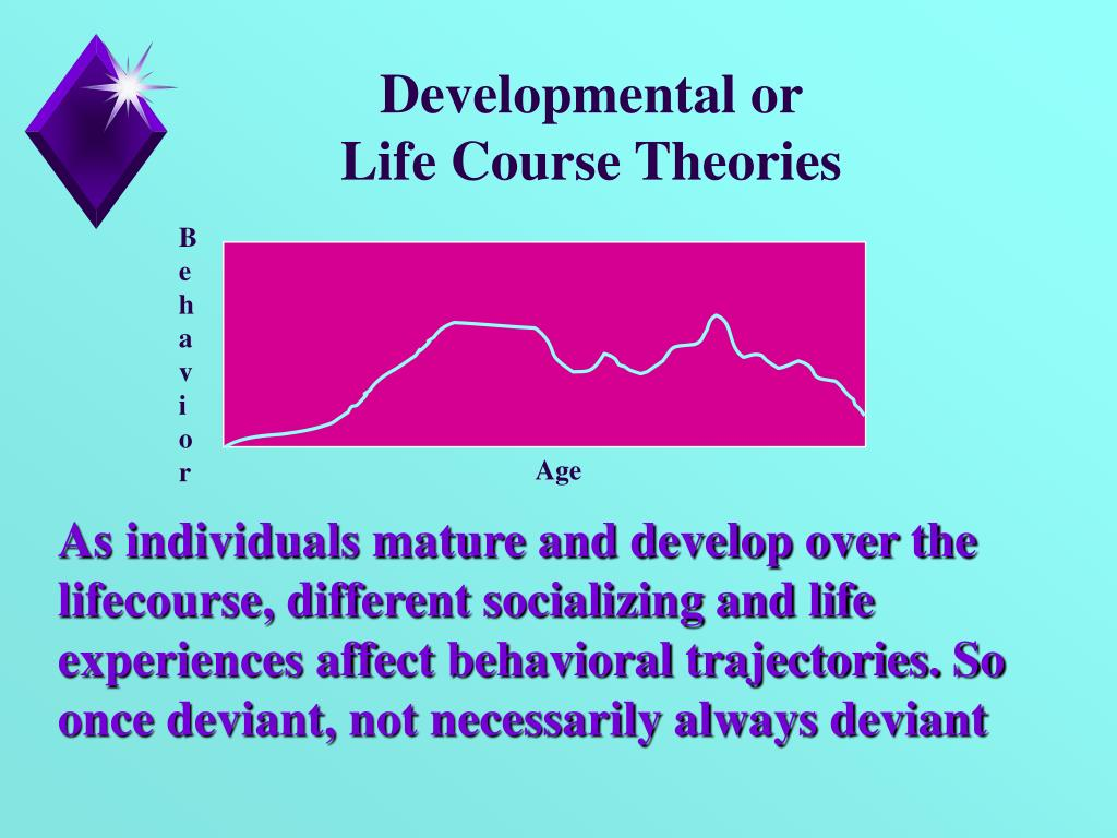the life course theory Integrated life course theories challenge the notion that criminality is stable over  the life course, and are concerned with the factors that induce.