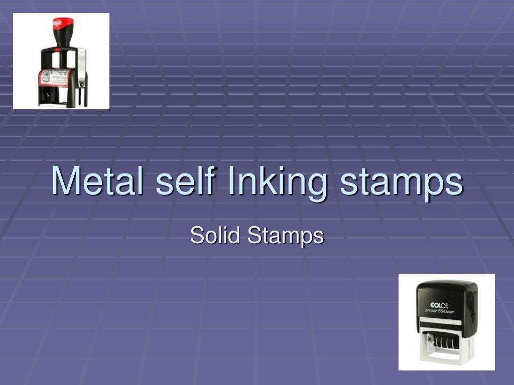 metal self inking stamps l.