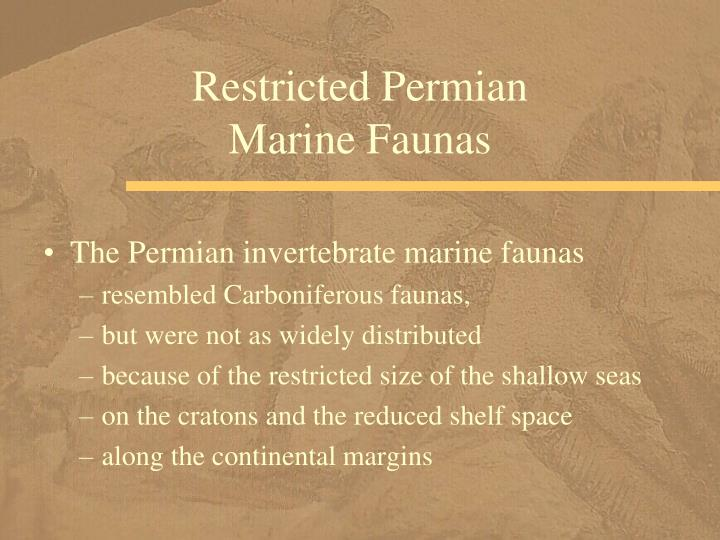 Restricted Permian