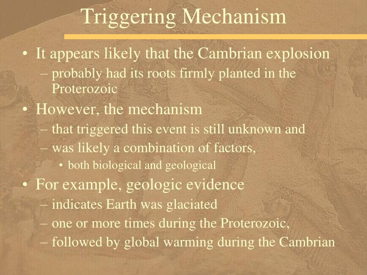 Triggering Mechanism