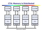 cta memory is distributed