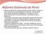 reforma sistemului de pensii