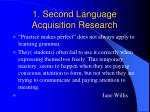 1 second language acquisition research