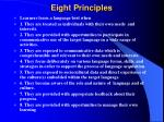 eight principles