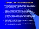 specific goals of communication