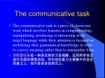 the communicative task