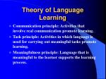 theory of language learning19