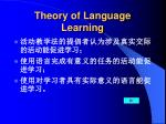theory of language learning20