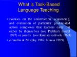 what is task based language teaching