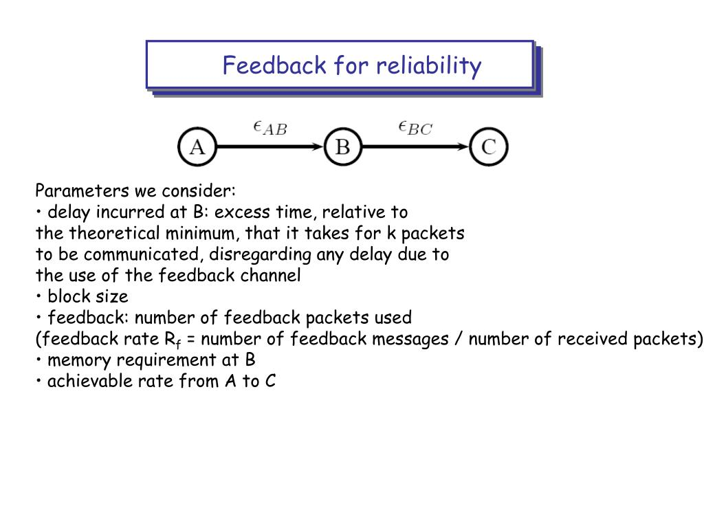 Feedback for reliability