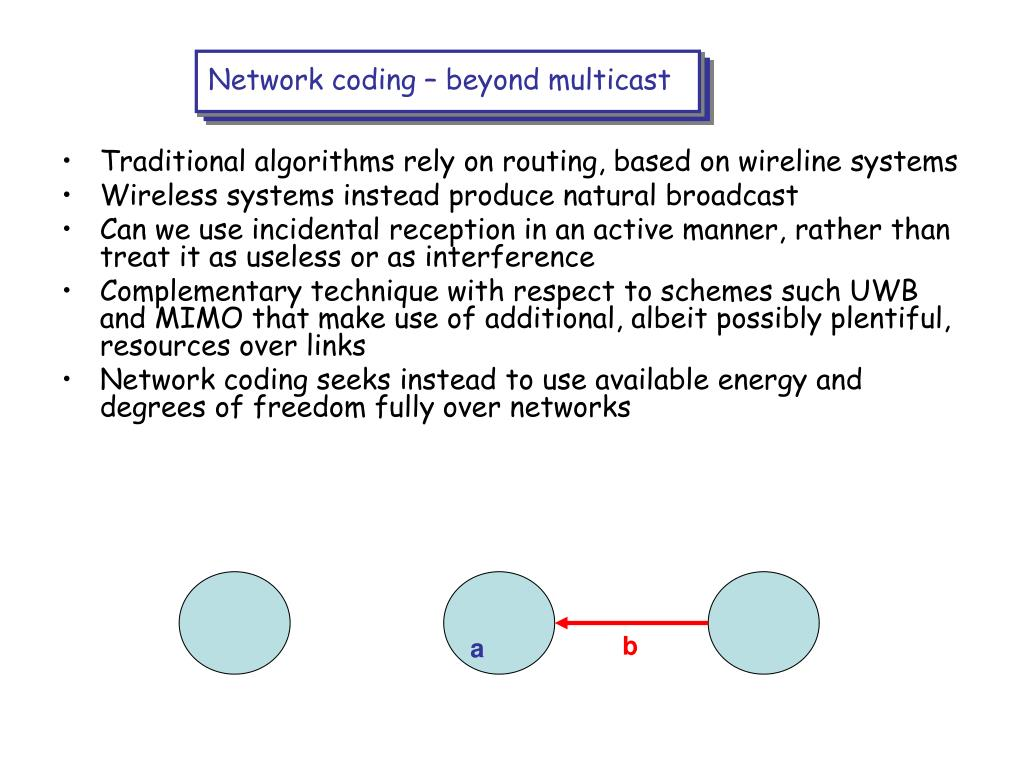 Network coding – beyond multicast