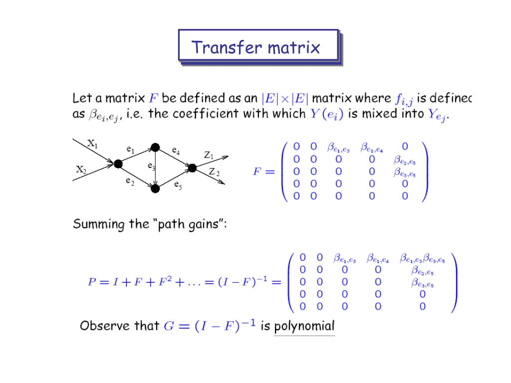 Transfer matrix