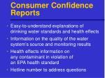 consumer confidence reports