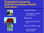 expanded industrial activity increases health concerns