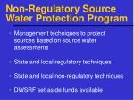 non regulatory source water protection program