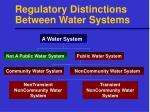 regulatory distinctions between water systems