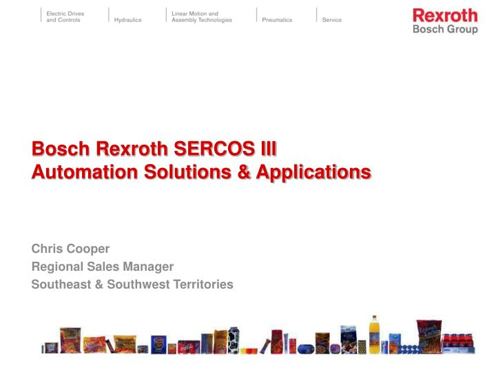 bosch rexroth sercos iii automation solutions applications n.