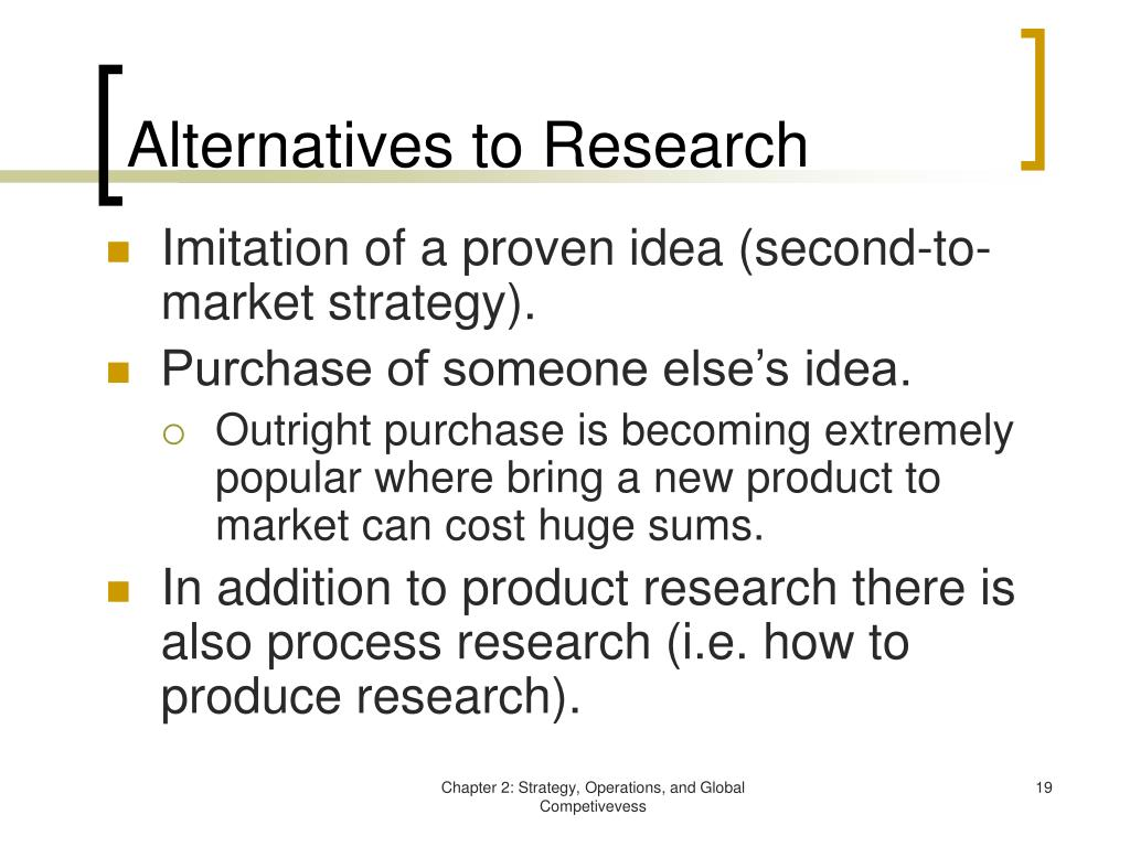 Alternatives to Research