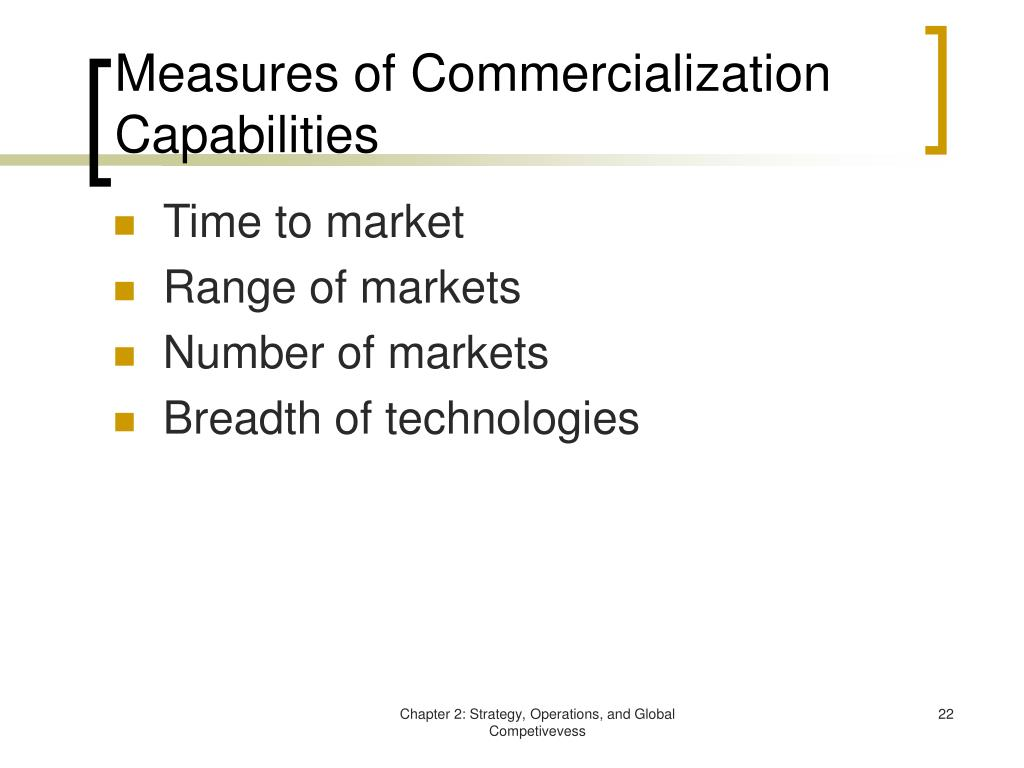 Measures of Commercialization Capabilities