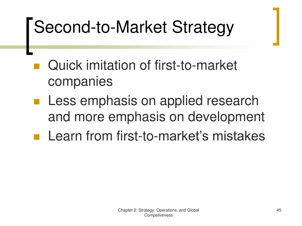 Second-to-Market Strategy