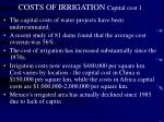 costs of irrigation capital cost 11