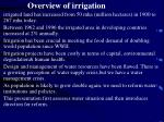 overview of irrigation
