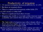 productivity of irrigation