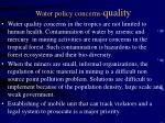 water policy concerns quality