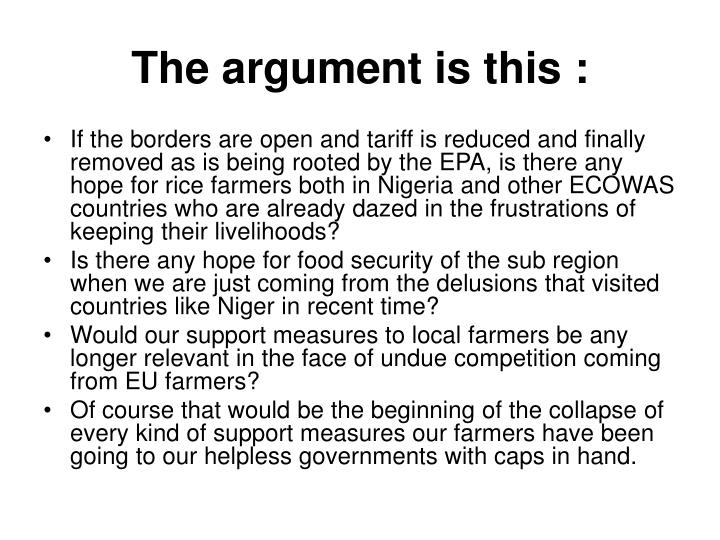 Trade Liberalization  S Nigeria Agriculture Food Security
