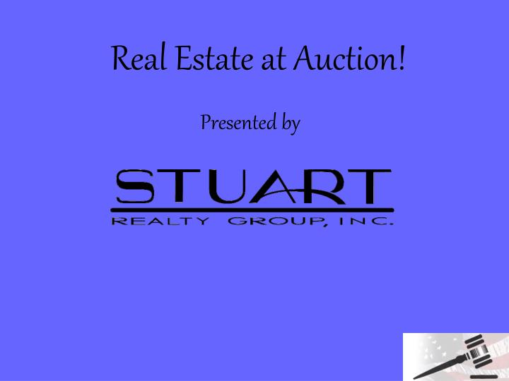 real estate at auction n.