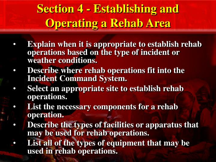 section 4 establishing and operating a rehab area n.