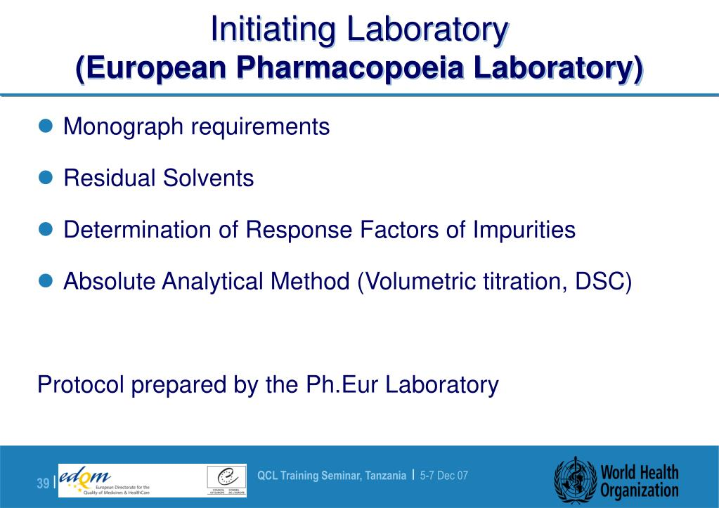 PPT - Pharmaceutical Reference Standards PowerPoint