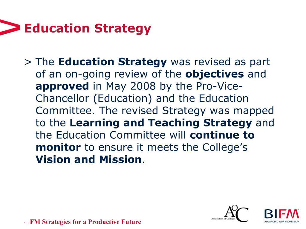 Education Strategy