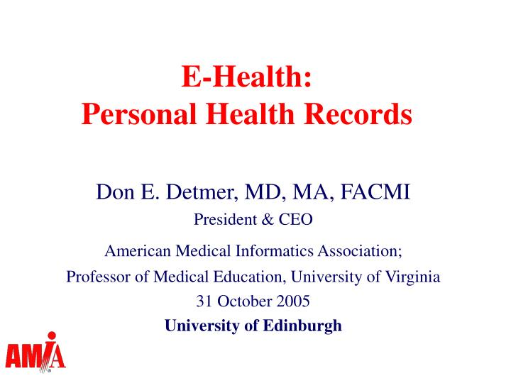 e health personal health records n.