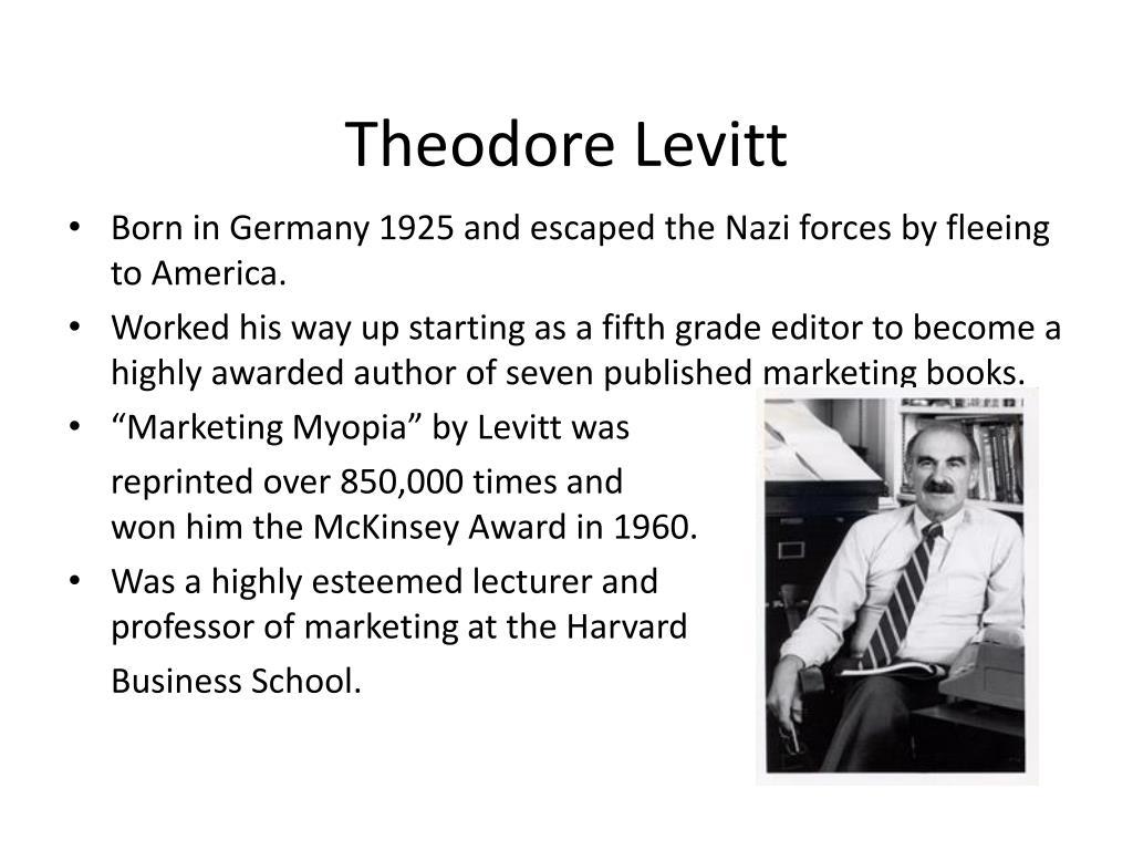 Writer of marketing myopia