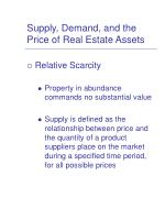 supply demand and the price of real estate assets4