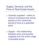 supply demand and the price of real estate assets6
