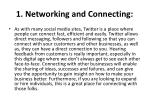 1 networking and connecting