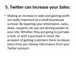 5 twitter can increase your sales