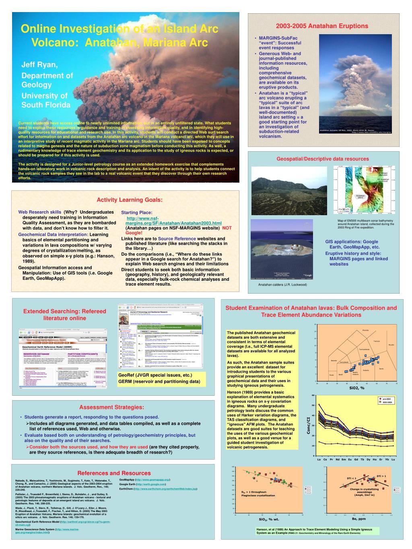 online investigation of an island arc volcano anatahan mariana arc